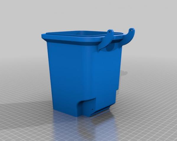 迷你垃圾桶 3D模型  图1