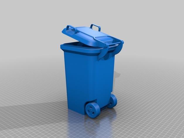 迷你垃圾桶 3D模型  图8
