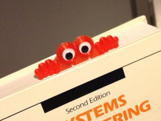 金鱼眼书签 3D模型  图1