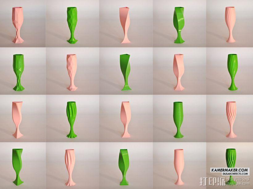 DUS设计 -- 香槟酒杯 3D模型  图3