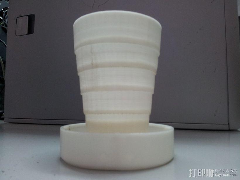 可折叠的小杯 3D模型  图1