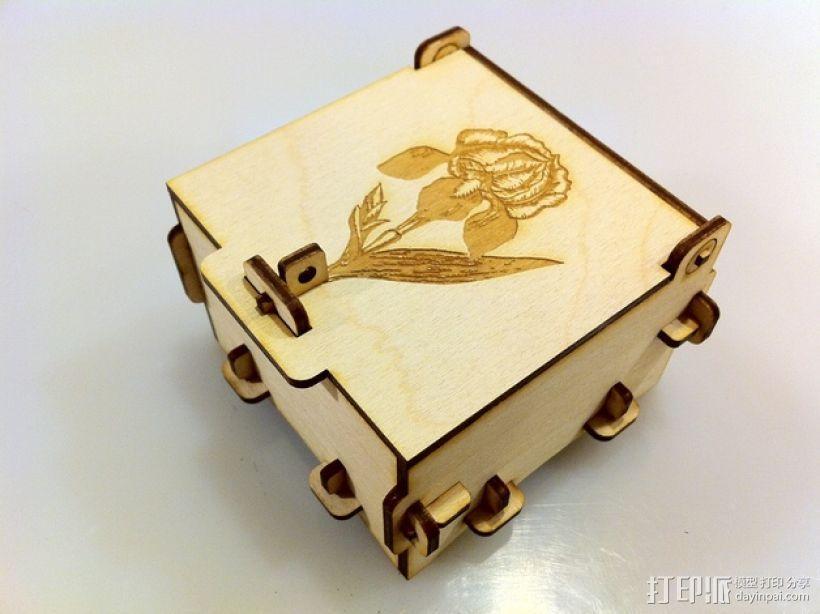 激光切割迷你小盒 3D模型  图1