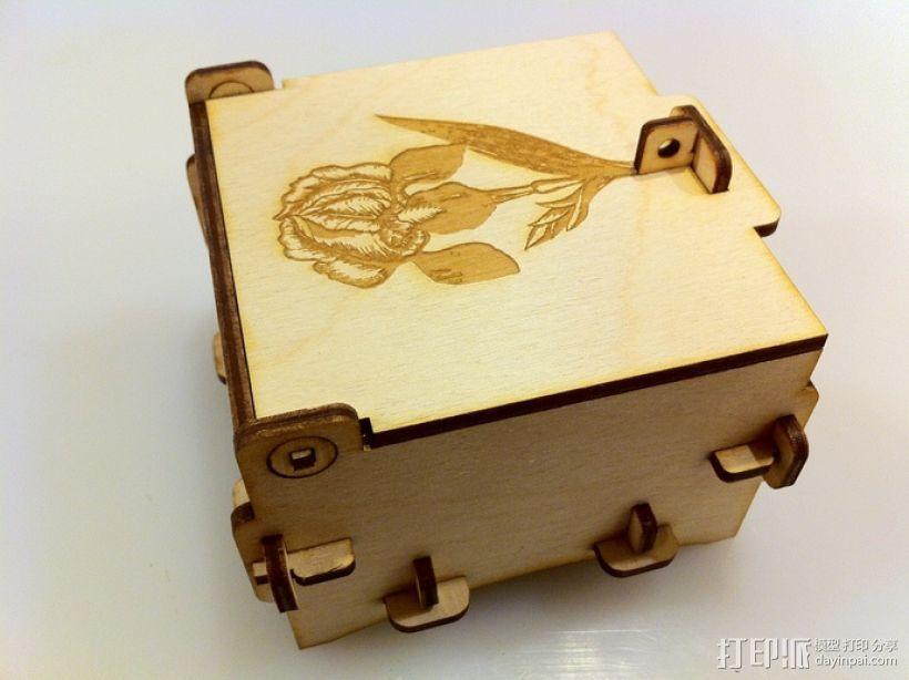 激光切割迷你小盒 3D模型  图2