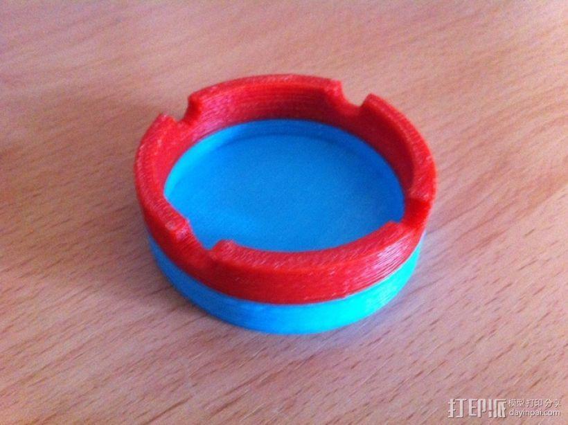 参数化圆形烟灰缸 3D模型  图1