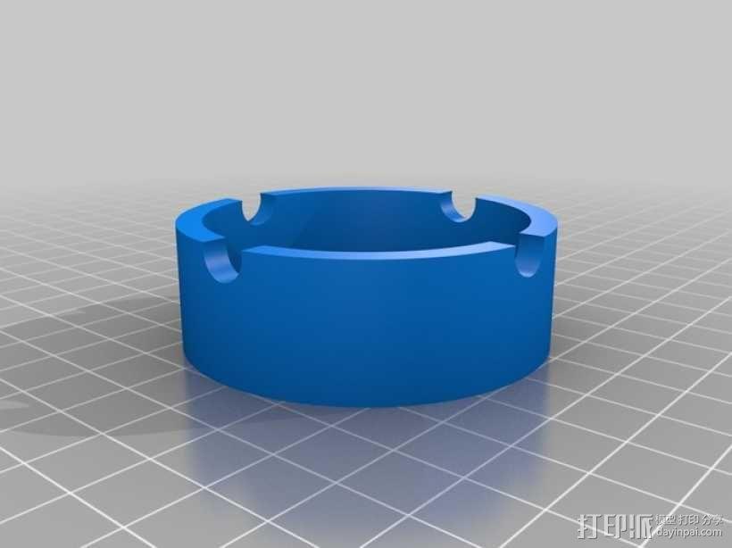 参数化圆形烟灰缸 3D模型  图3