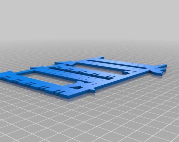 迷你耳环挂钩/架 3D模型  图1