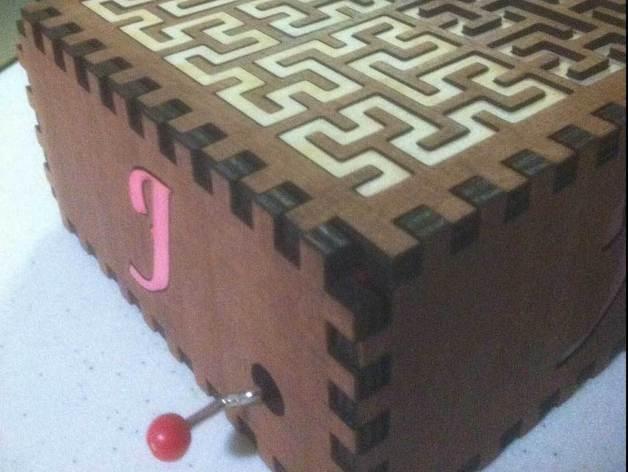 方形音乐盒 3D模型  图3