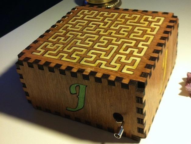 方形音乐盒 3D模型  图6