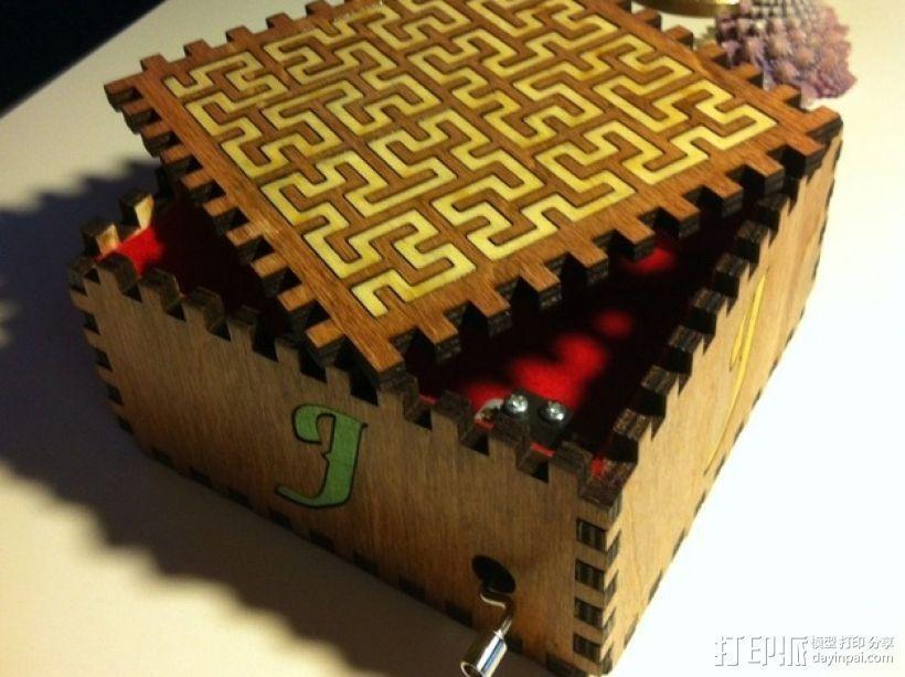 方形音乐盒 3D模型  图7