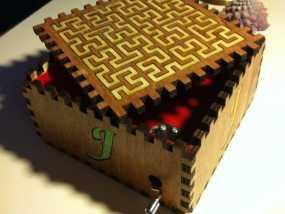 方形音乐盒 3D模型