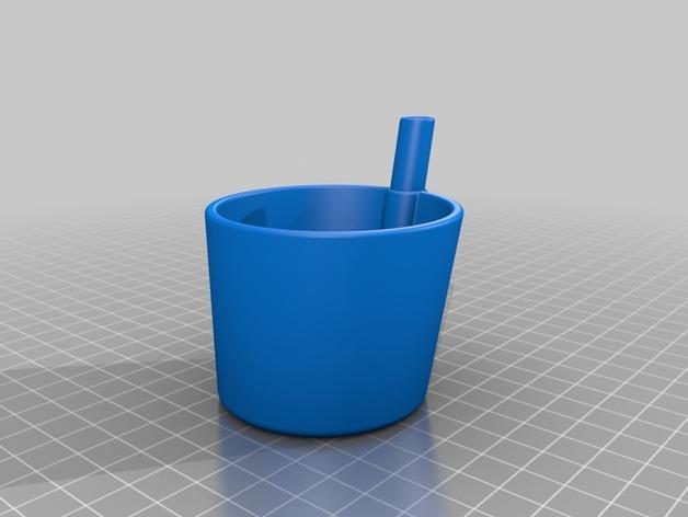 带吸管的迷你饮水杯 3D模型  图2