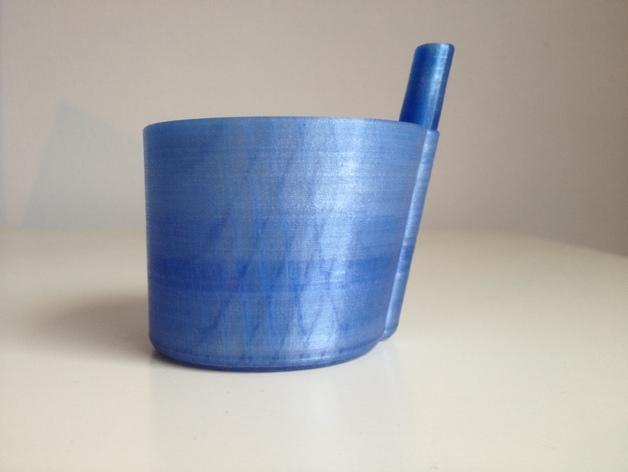 带吸管的迷你饮水杯 3D模型  图3