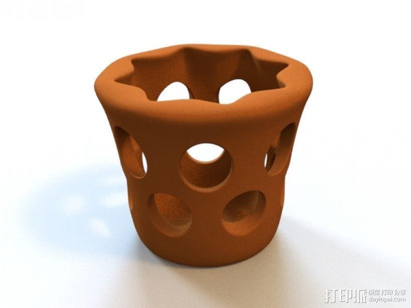 圆形笔筒 3D模型  图1