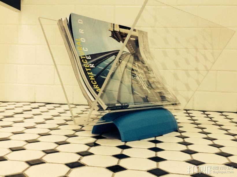杂志架底座V1 3D模型  图6