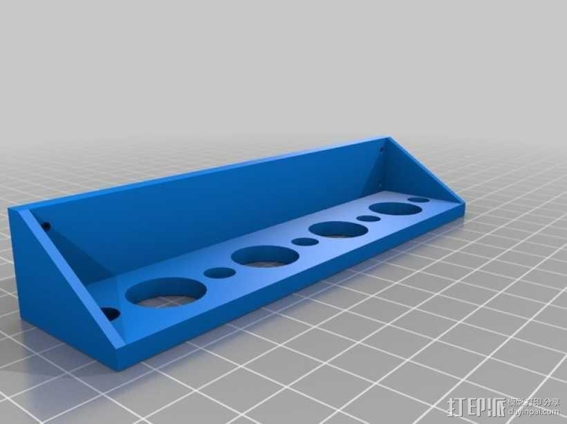 简易壁挂式工具架 3D模型  图1