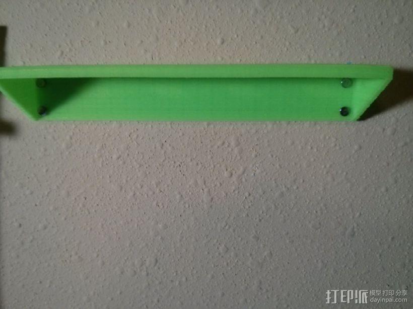 简易壁挂式工具架 3D模型  图2