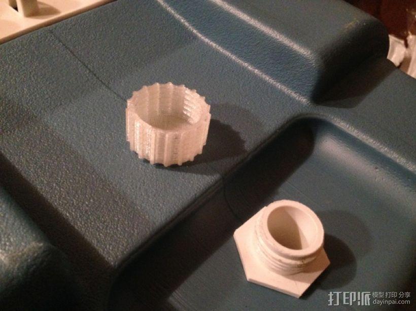 冷却器排水阀塞子 3D模型  图1