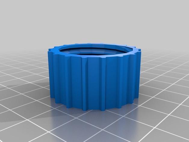 冷却器排水阀塞子 3D模型  图2