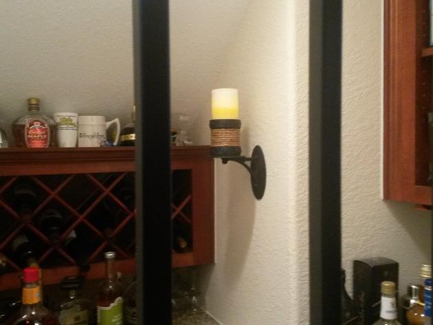 壁挂式灯架/架子 3D模型  图1