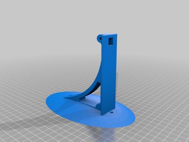 壁挂式灯架/架子 3D模型  图2