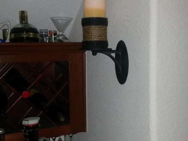壁挂式灯架/架子 3D模型  图4