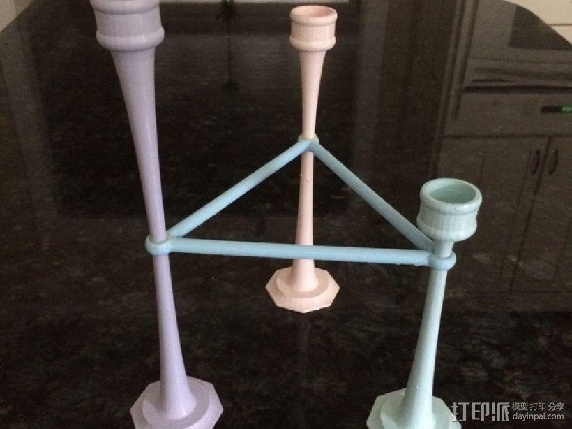 三枝状大烛台 3D模型  图1
