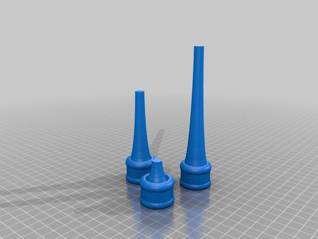 三枝状大烛台 3D模型  图2
