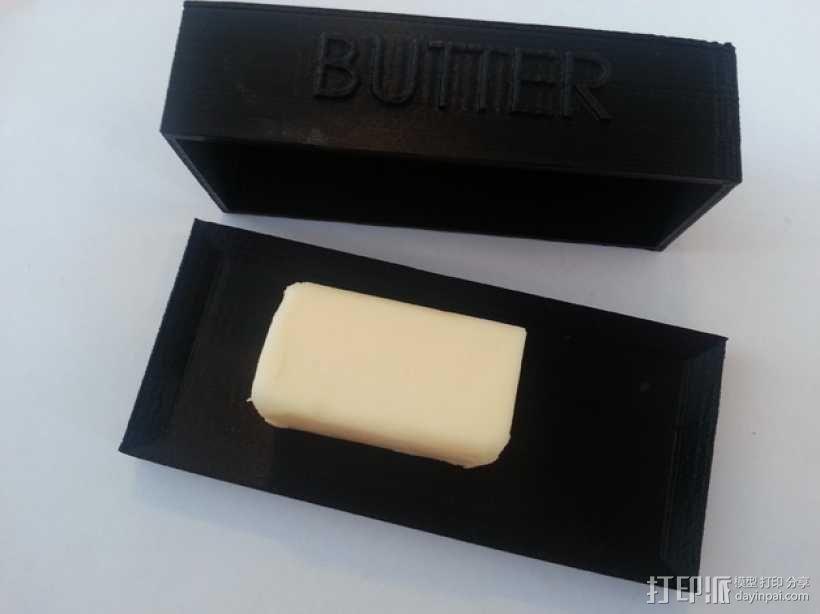 黄油盒 3D模型  图4