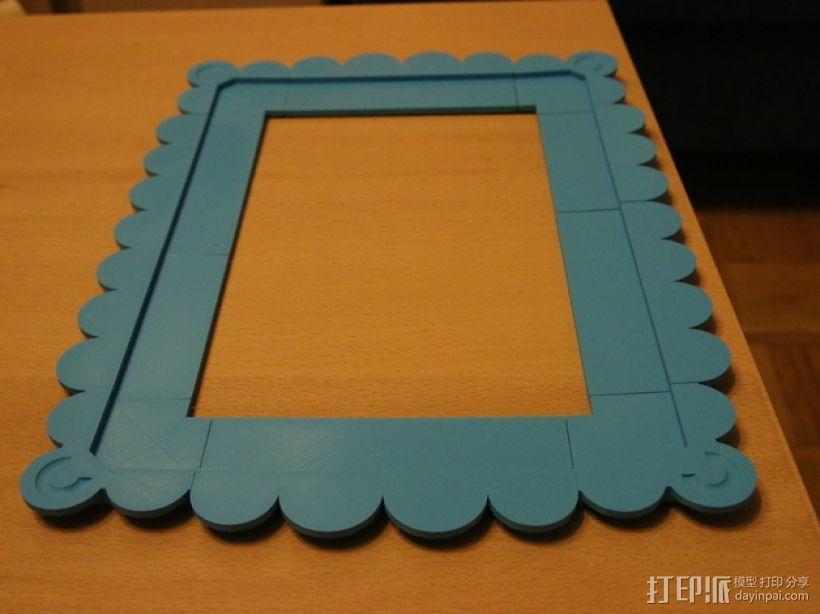 A4壁挂式相框 3D模型  图1
