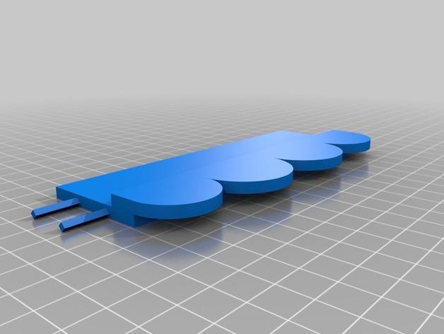 A4壁挂式相框 3D模型  图3