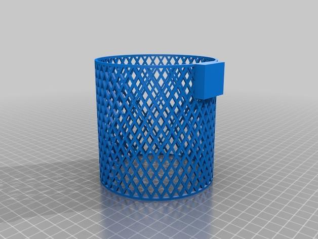 宜家Kura床夹式篮子 3D模型  图1