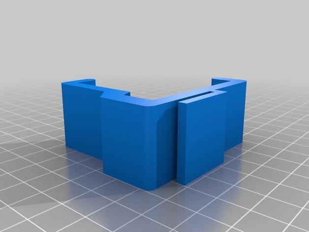 宜家Kura床夹式篮子 3D模型  图3