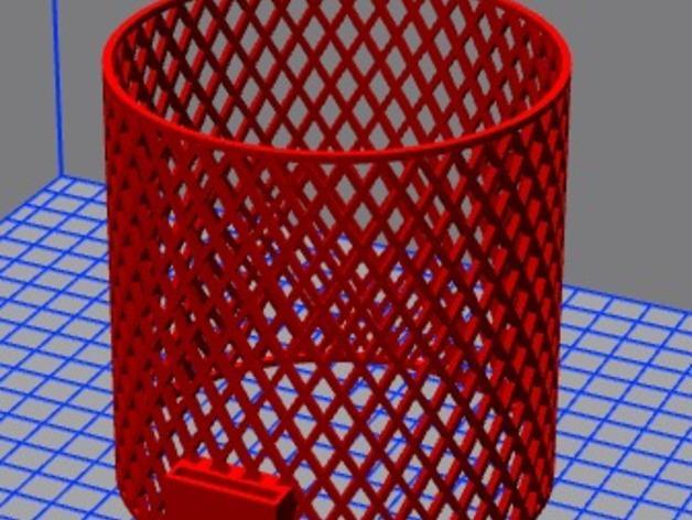 宜家Kura床夹式篮子 3D模型  图7