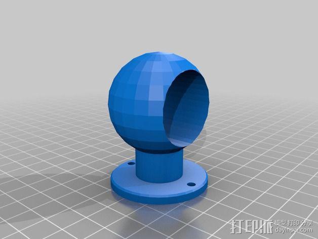 窗帘环 3D模型  图1