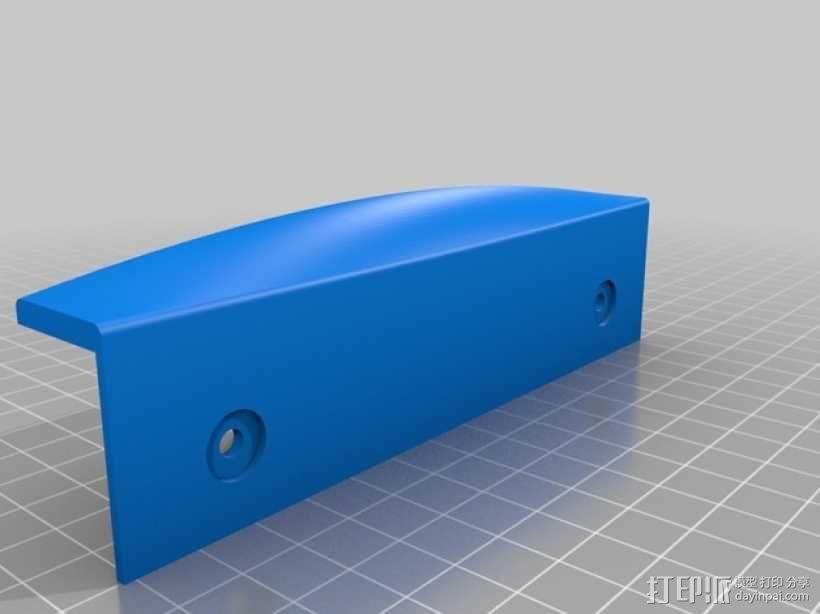 博世冰箱把手零部件 3D模型  图2