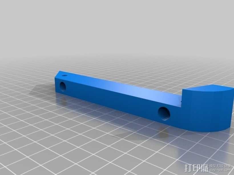 45度倾斜角托板/架子 3D模型  图2