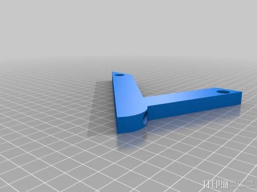 45度倾斜角托板/架子 3D模型  图3