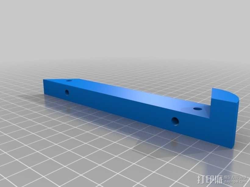 45度倾斜角托板/架子 3D模型  图5
