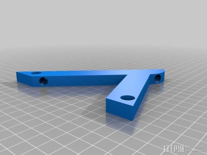 45度倾斜角托板/架子 3D模型  图4