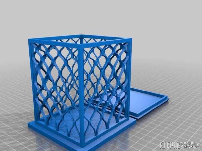镂空四边形小盒 3D模型  图1