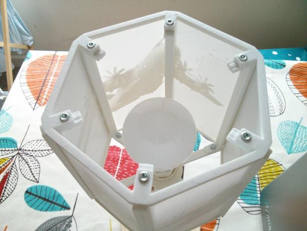 透光浮雕灯罩 3D模型  图2