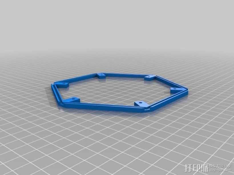 透光浮雕灯罩 3D模型  图4