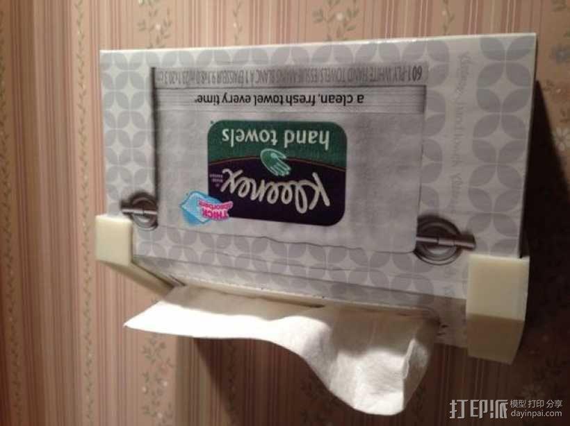 Kleenex面巾纸盒架 3D模型  图1