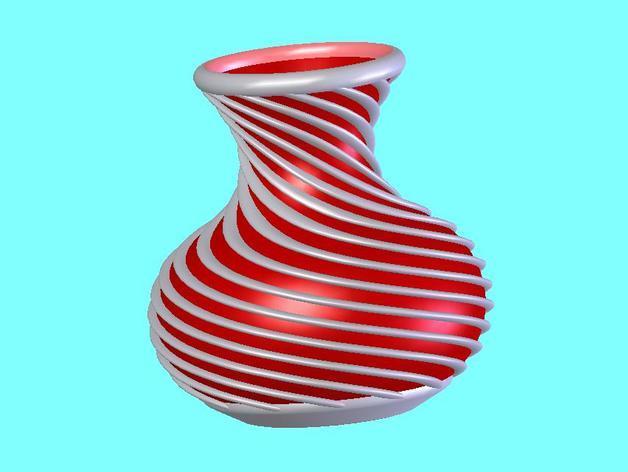 螺旋花瓶1 3D模型  图1