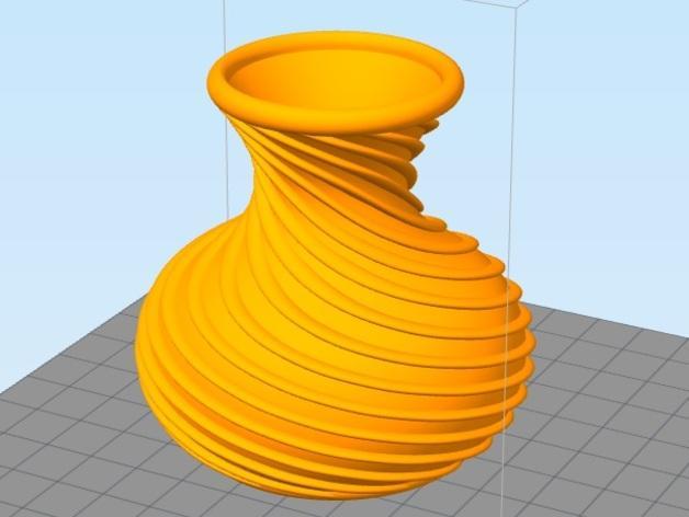 螺旋花瓶1 3D模型  图3