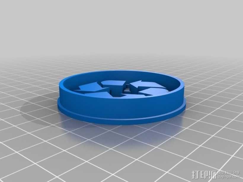 """""""回收利用""""标志饼干模具切割刀 3D模型  图2"""