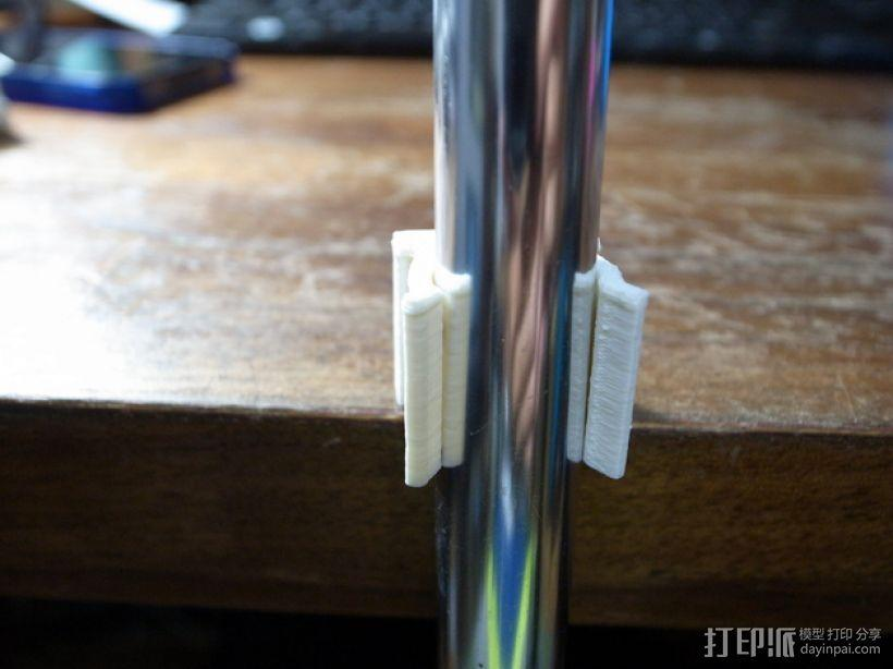 扫帚固定架 3D模型  图3
