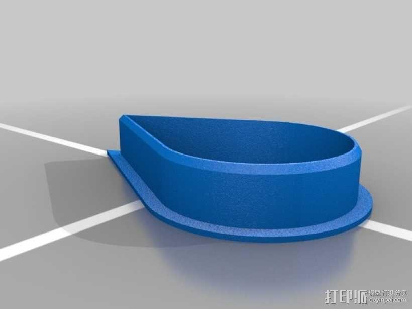水滴形饼干模具切割刀 3D模型  图2
