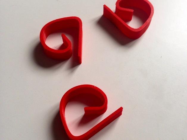 桌布夹/固定器 3D模型  图1