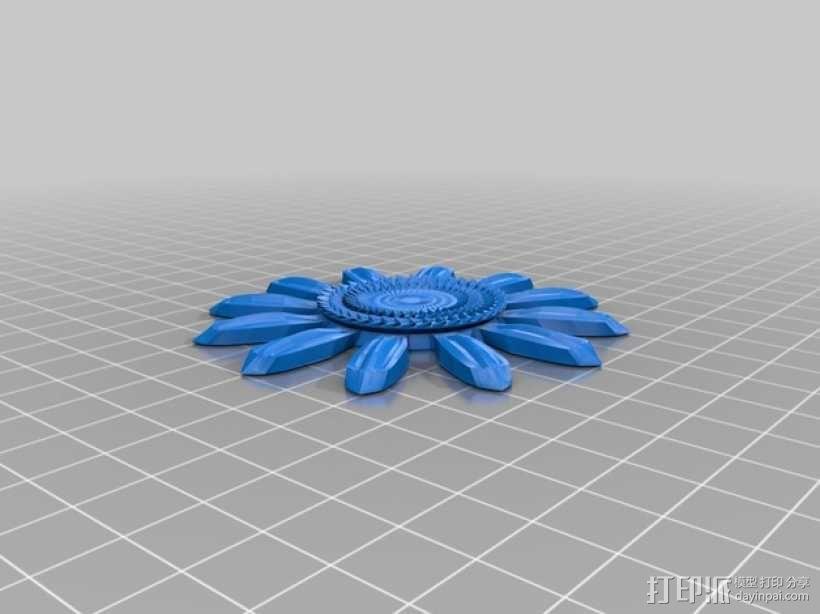 迷你向日葵 3D模型  图4